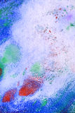 White paper with paint stains Royalty Free Stock Images
