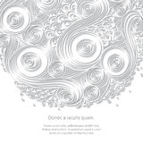 White Paper Pattern With Circle Shape. Mandala. Doodle 3D White Paper Pattern With Circle Shape. Abstract Doodle Form of Flowers and Waves. Vector Illustration vector illustration