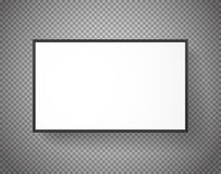 White paper picture frame on transparent background Stock Photo