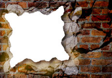 White Paper Piece with Grunge Background. A piece of torn, white paper with rough edges is on a grunge background. The background has a variety of textures and Royalty Free Stock Photography