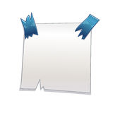 White paper piece taped Royalty Free Stock Photography