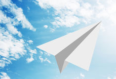 White paper plane Royalty Free Stock Image