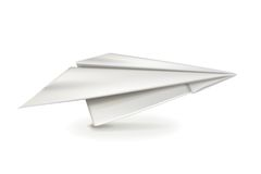 White paper plane Stock Images