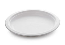 White paper plate  on white background Stock Photography