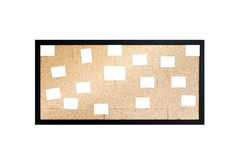 White paper on a plywood board Stock Photography