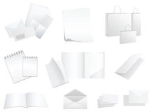 White paper products Royalty Free Stock Photo