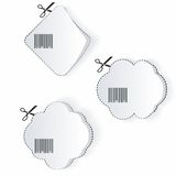 White paper realistic stickers Stock Photos