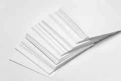 White paper records Stock Photo