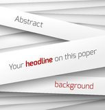 White paper rectangle banner on abstract 3d. Background with drop shadows. Vector illustration Royalty Free Illustration