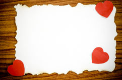 White paper and red heart Stock Photo