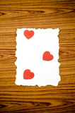 White paper and red heart Stock Photography