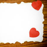 White paper and red heart Royalty Free Stock Photos