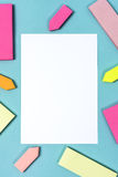 White paper and reminder color papers Royalty Free Stock Photography