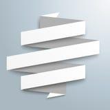 White Paper Ribbon Flag Royalty Free Stock Photos