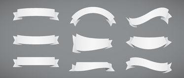 White Paper Ribbons Royalty Free Stock Photo