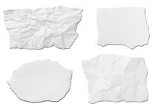 White paper ripped message background Royalty Free Stock Images