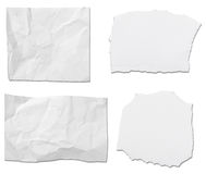 White paper ripped message background Stock Images