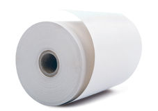 White paper roll Stock Image