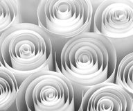 White paper rolls. As background royalty free stock photos