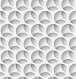 White paper seamless circle background Royalty Free Stock Photos
