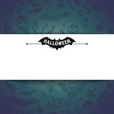 White Paper Sheet on Dark Halloween Background Royalty Free Stock Image