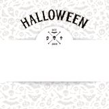 White Paper Sheet on Light Halloween Background Stock Image