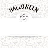 White Paper Sheet on Light Halloween Background Stock Image