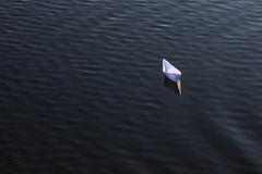 A white paper ship Royalty Free Stock Photography