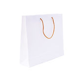 White paper shopping bag Stock Photography
