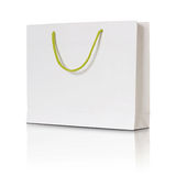 White paper shopping bag Stock Images