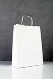 White Paper Shopping Bag Stock Photos