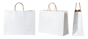 white paper shopping bags Stock Photography