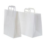 White paper shopping bags Royalty Free Stock Photography