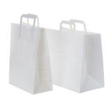 White paper shopping bags Stock Photos