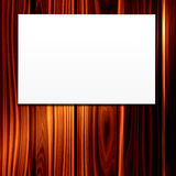 White Paper Sign On Wood Royalty Free Stock Image