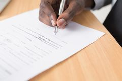 White Paper and Silver Fountain Pen Royalty Free Stock Photography