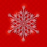 White Paper Snowflake on Christmas Background Stock Image