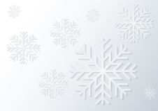 White paper snowflake Stock Photo