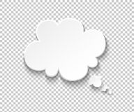 Free White Paper Speech Bubble. Blank Thought Balloons, Think Cloud. Vector Speech And Thinking Comic Message Royalty Free Stock Images - 164785159