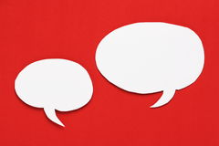 White Paper Speech Bubbles Royalty Free Stock Images
