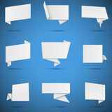 White Paper Speech Bubbles Royalty Free Stock Photo