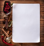 White paper with spices Stock Images