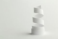 White paper spiral Stock Photos