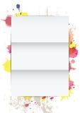 White paper on splatter background Stock Photo
