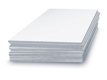 White paper stacked Stock Image