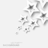 White paper stars background. Royalty Free Stock Images
