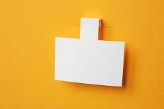 White paper sticker Stock Image