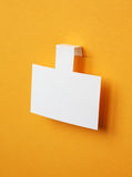 White paper sticker Royalty Free Stock Image