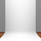 White paper studio backdrop Stock Images