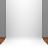 White paper studio backdrop Stock Images